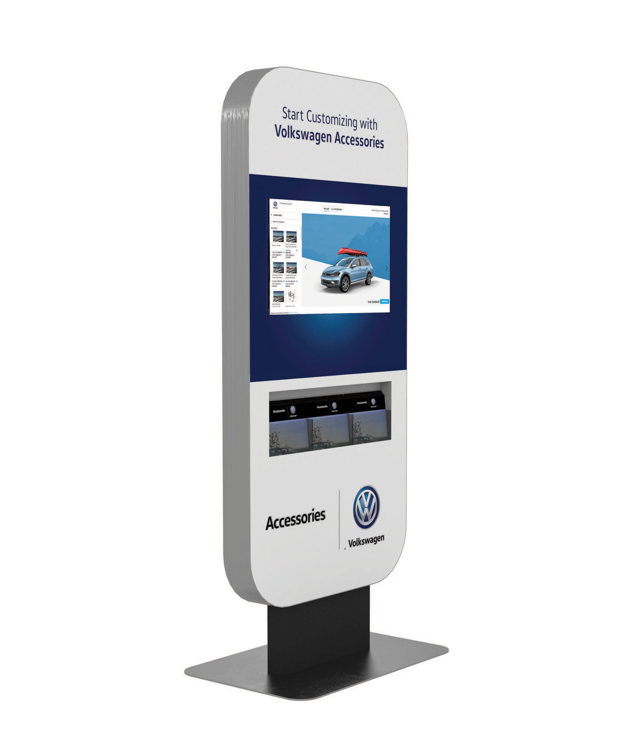 32-inch kiosk