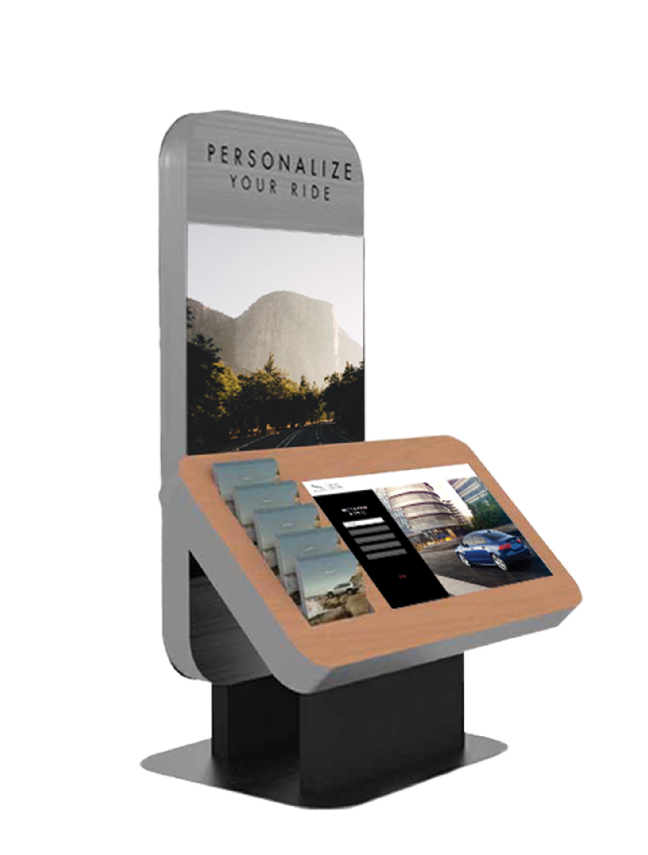 42-inch kiosk
