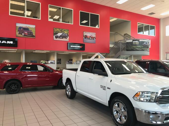 Burnsville Dodge RAM showroom