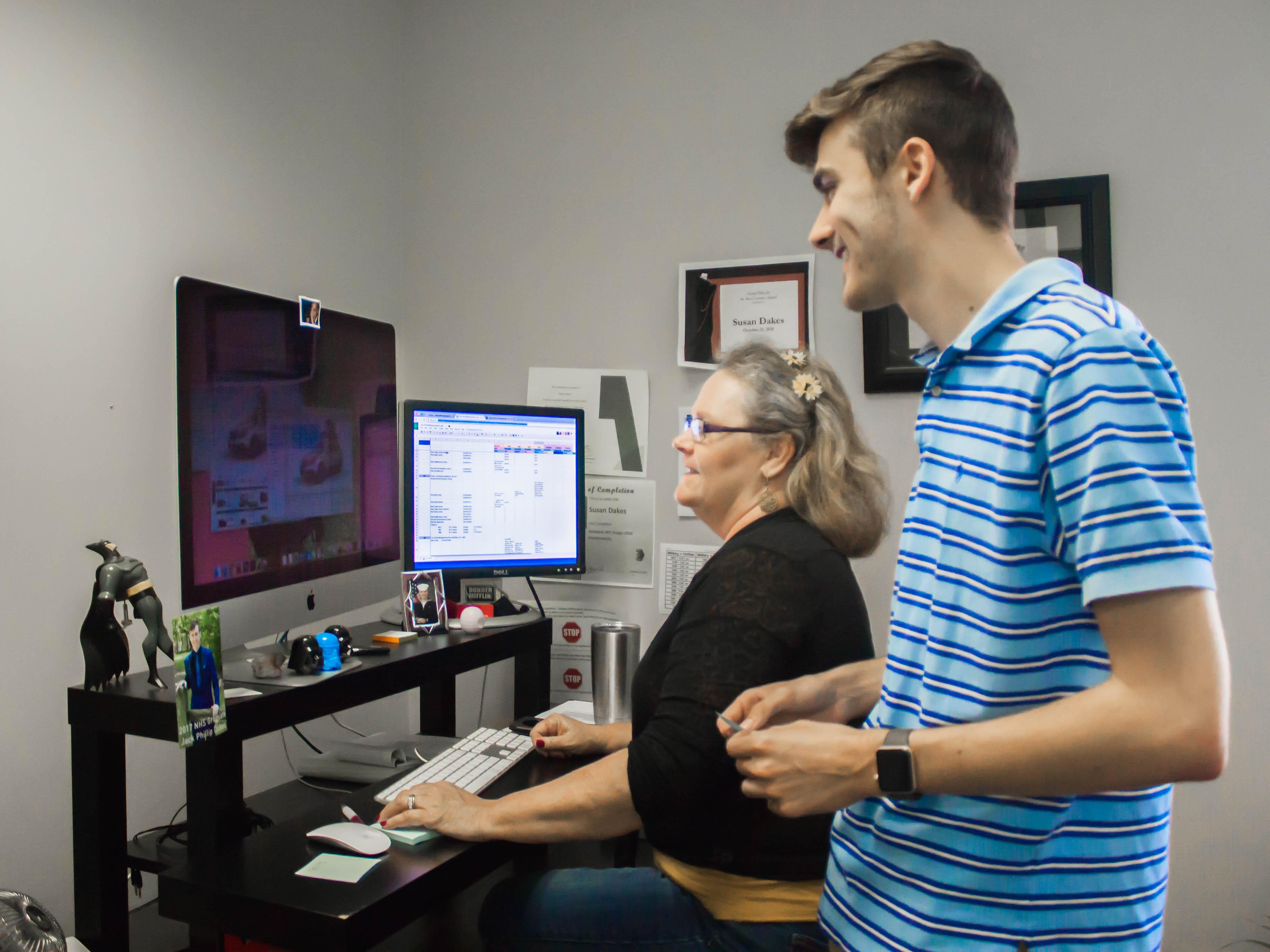 Graphics team working on configurators