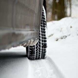 Tires on the snow