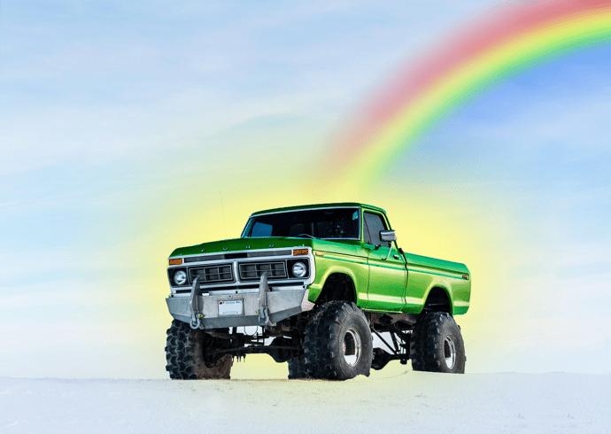 st patricks truck glow