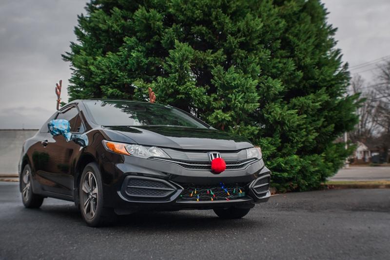 Car ready for the holidays