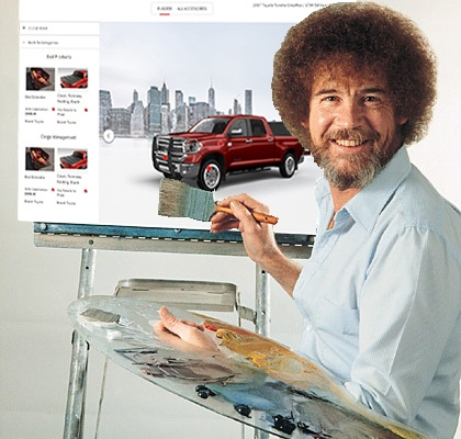 Bob Ross painting the Insignia System